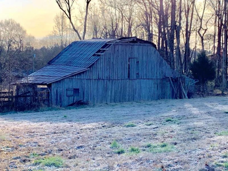 Old Barn on Cold Winter Day. Blount County near Blountsville. Submitted by Tyler Cantrell