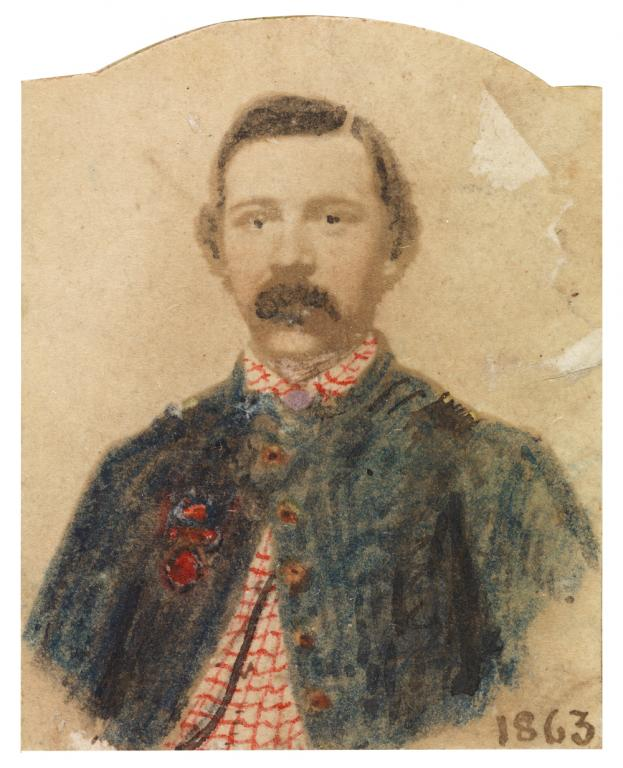 Robert Knox Sneden (1832–1918), an American landscape painter and a map-maker for the Union Army during the American Civil War. He was a prolific illustrator and memoirist documenting the war and other events.