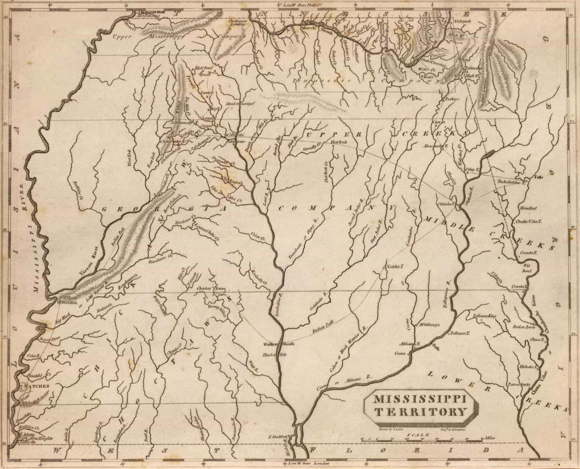 1804 Map of Mississippi Territory Atlas