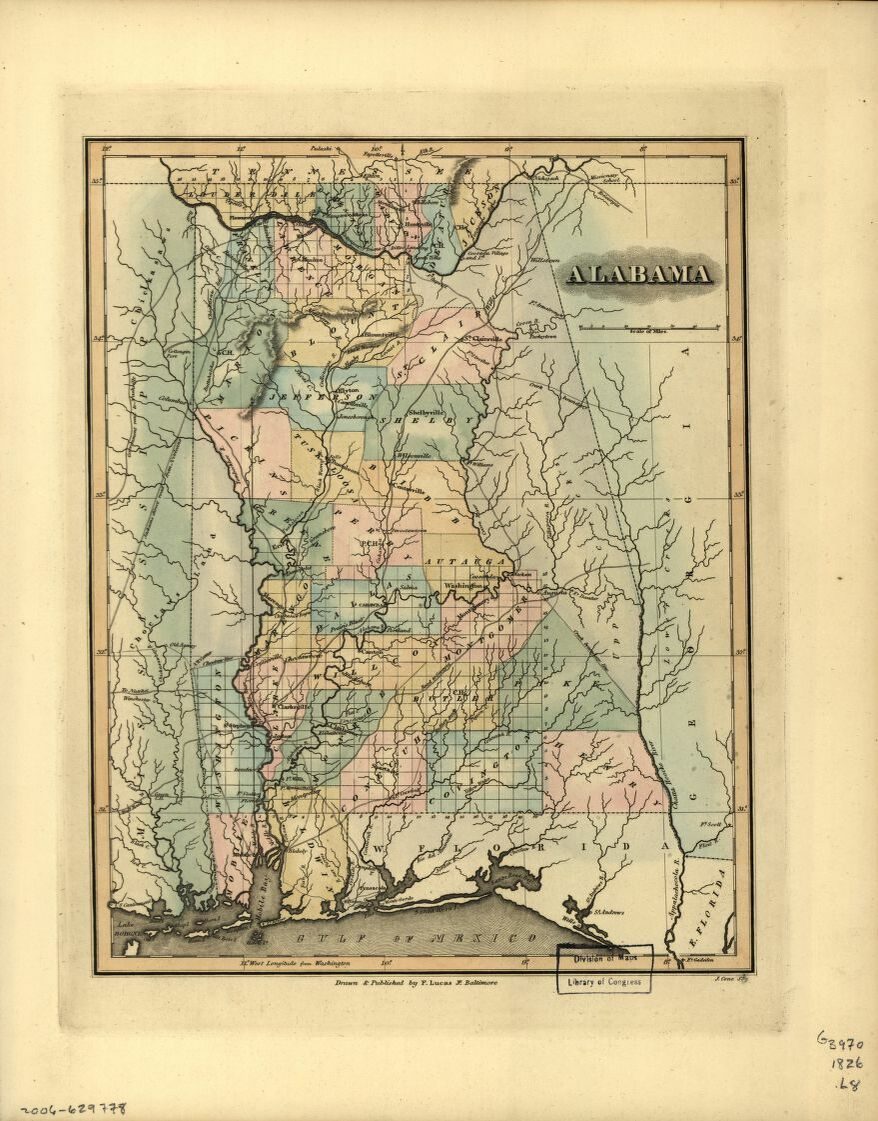 Alabama Map 1826