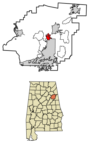 Location of Weaver Alabama in Calhoun County, Alabama