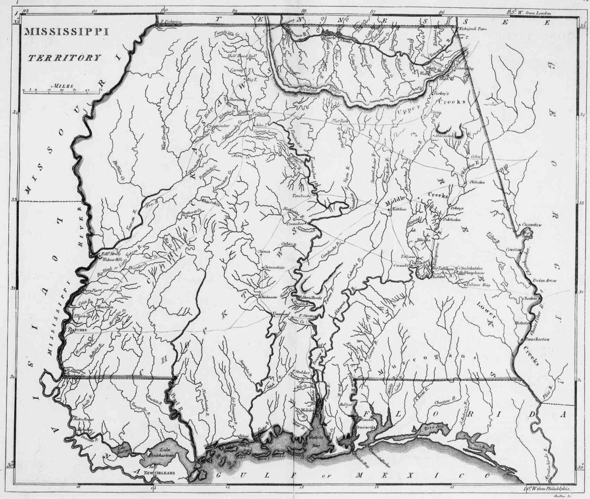 Map: 1814 Mississippi Territory