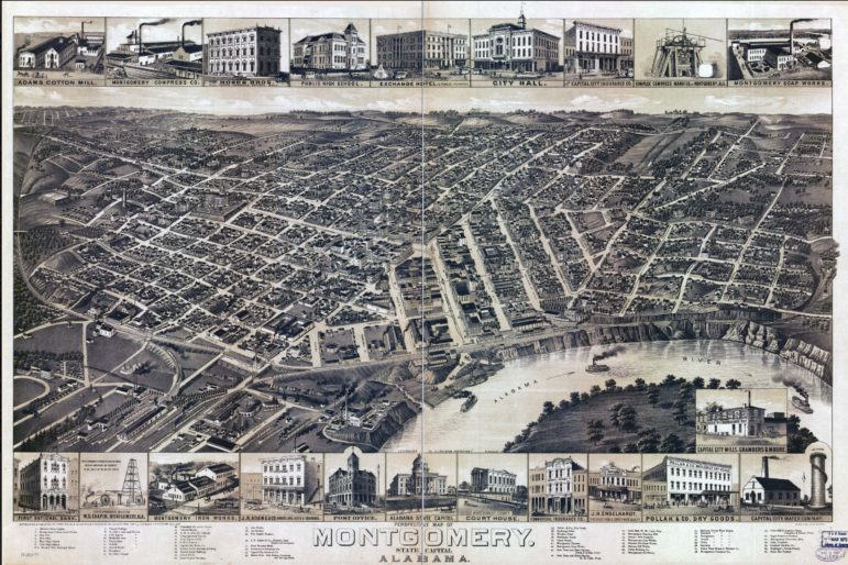 Perspective View of Montgomery, AL, ca 1887