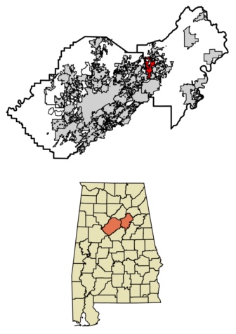 Location of Argo Alabama in Jefferson County and St. Clair County Alabama