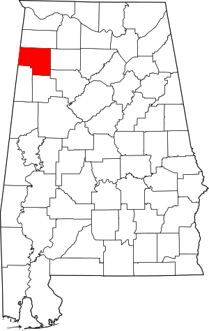 Marion County Alabama Location Within The State of Alabama