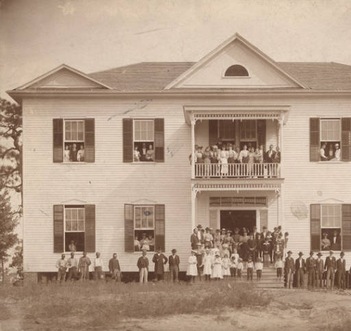 Students, faculty, and staff at the South Alabama Institute in Thomasville, Alabama. Circa 1890 - 1909