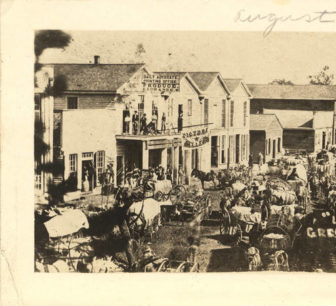 Up Town' Greenville, Alabama - The original photograph was taken in 1867, and this reproduction was made in 1933