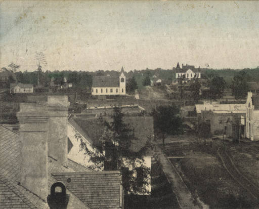 Bird's-Eye View of Thomasville, Alabama. Circa 1880 - 1889