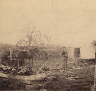 Grinding cane and making syrup in DeKalb County, Alabama Circa 1880 - 1889