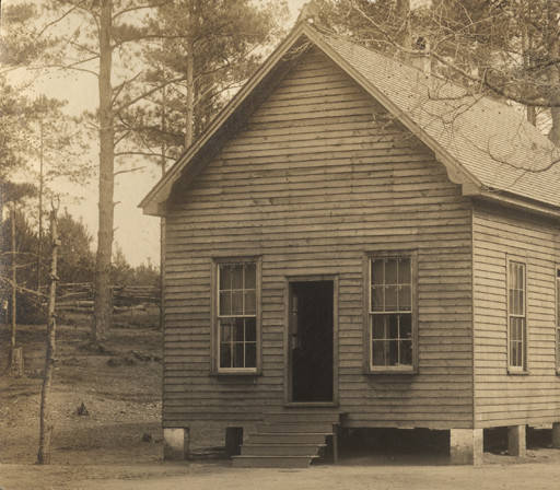One-room schoolhouse in Clarke County, Alabama. Circa 1913