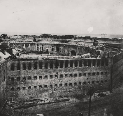 Twelfth of twelve photographs documenting the bombardment of Fort Morgan, Alabama, by Union troops in August 1864.