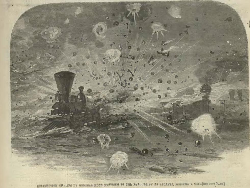 Harper's Weekly Images of Exploding Ammo Train