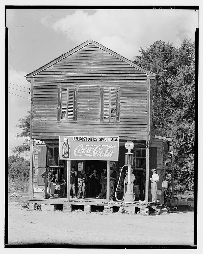 Crossroads store, post office. Sprott, Alabama Circa 1935