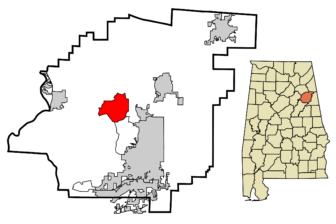 Location of Alexandria Alabama in Calhoun County Alabama