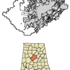 Location of Morris Alabama in Jefferson County, Alabama