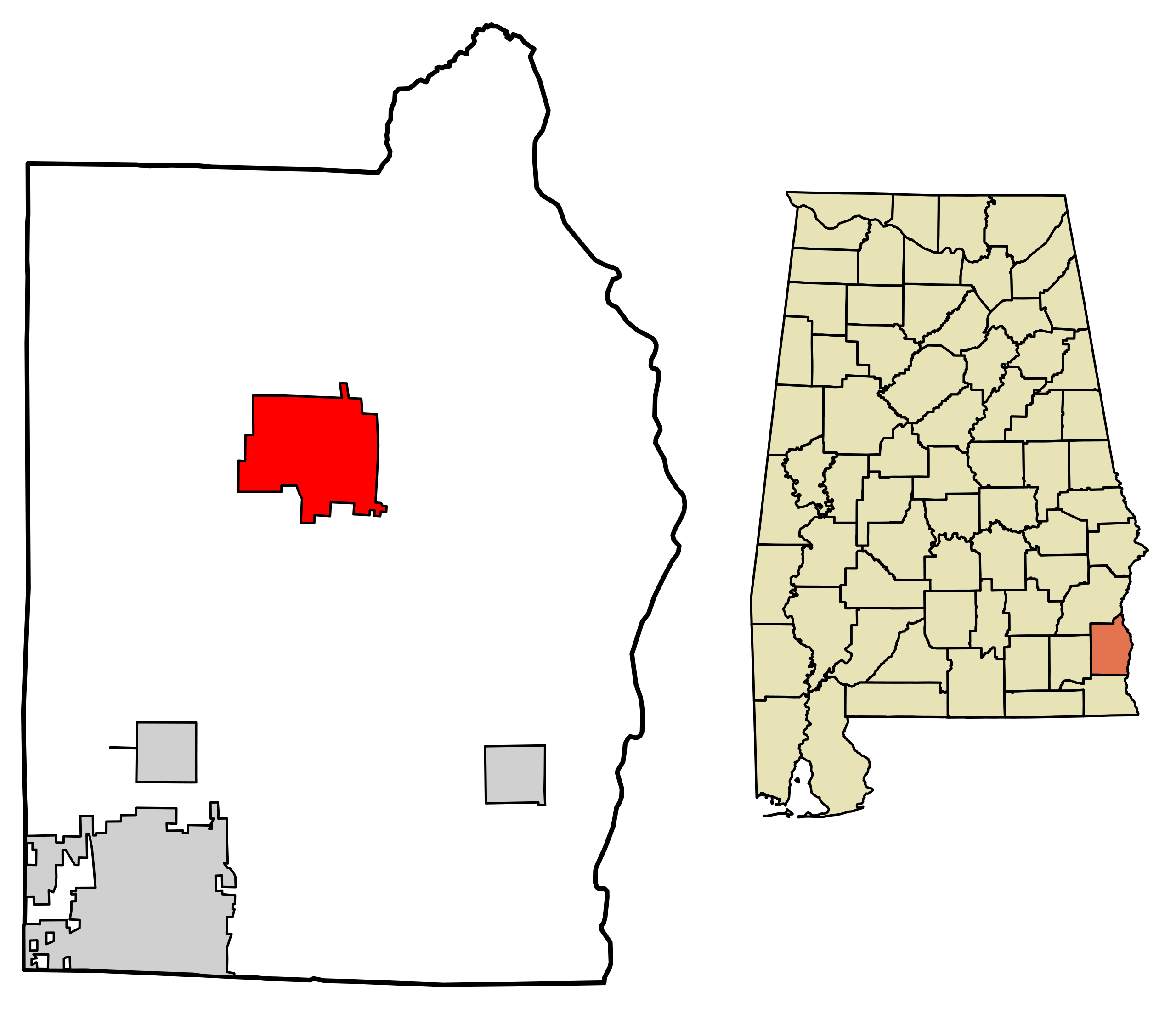 Location of Abbeville in Henry County, Alabama.